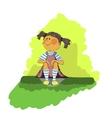 young girl dreams vector image