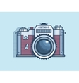 Camera retro flat design vector image