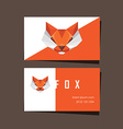 3d origami low polygon fox business card vector image vector image