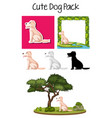 a pack of dog vector image vector image
