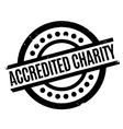 Accredited Charity rubber stamp vector image vector image