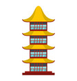 asian temple icon flat style vector image vector image