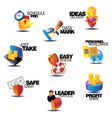 Assorted concept titles for business vector image vector image