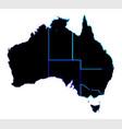 australia states in silhouette vector image