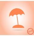 Beach Icon Flat Design Style vector image vector image