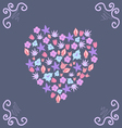 Beautiful card with a floral pattern and curls vector image