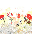 Beautiful floral watercolor background vector image vector image