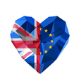 Brexit Crystal jewelry European and British heart vector image vector image