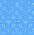 cardiac cycle blue seamless pattern or vector image vector image