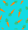 carrots on blue background vector image vector image