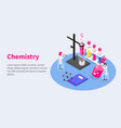 chemistry vaccines development composition vector image vector image