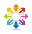 circle arrow star round design vector image vector image