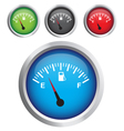 circular fuel display vector image