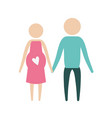 color silhouette pictogram woman pregnancy and man vector image vector image