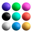 colored balls on a white isolated vector image