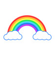 colorful rainbow or color spectrum with clouds vector image