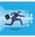 Digital market race business concept vector image