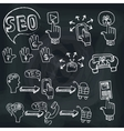 Doodle scheme main activities seo with icons vector image vector image