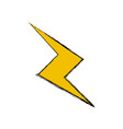 drawing thunderbolt power climate image vector image vector image