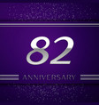 eighty two years anniversary celebration design vector image vector image