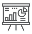 financial analysis line icon finance and banking vector image