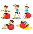 Fitness series vector image vector image