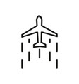 flying plane icon design in outline style vector image vector image