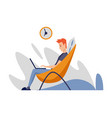 freelance man working at home in comfortable vector image vector image