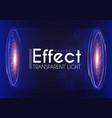 futuristic light effcet illuminated scene vector image
