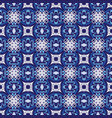 geometric blue and white ceramic tiles vector image vector image