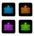 glowing neon heating radiator icon isolated on vector image vector image