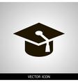 graduation cap icon Flat vector image vector image