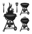 grill set objects and design elements vector image