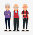 group of granfathers characters vector image vector image