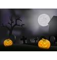 Halloween night background with pumpkin vector image vector image