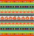 halloween seamless pattern design postcard vector image