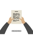 Hands holding paper vector image