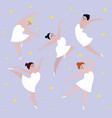 happy plus size dancing girls set body positive vector image vector image