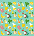 healthy food template vector image