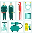 icon water equipment vector image vector image