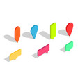 isometric 3d pin pointer for map icons vector image vector image