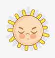 kawaii angry sun icon vector image vector image