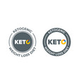 ketogenic diet icon 100 percent weight loss keto vector image vector image