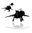 Landing plane silhouette vector image vector image