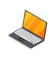 laptop device isometric 3d icon vector image vector image