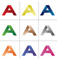 letter a icon logo vector image vector image