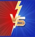 lightning strike vs letter energy conflict game vector image vector image