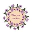 Lilac eglantine frame vector image