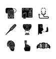 medical devices glyph icons set vector image vector image