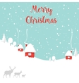 Merry christmas deer Happy New Year vector image